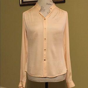 Diane von Furstenberg long sleeve silk blouse.